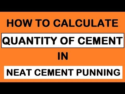 Material Calculation For Neat Cement Punning At Civil Construction Site | Learning Technology