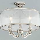 "Possini Euro Design Possini Euro Nor 18""W Polished Nickel 4-Light Ceiling Light"