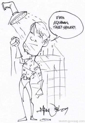 Manny Trembley's Aquaman Sketch