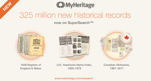 MyHeritage releases new collections with 325 million historical records