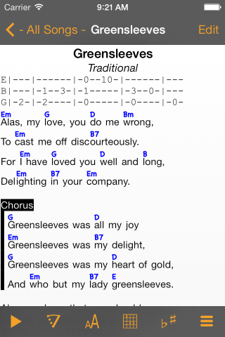 Linkesoft Songbook Your Lyrics And Chords On Iphone Ipad And Ipod Touch