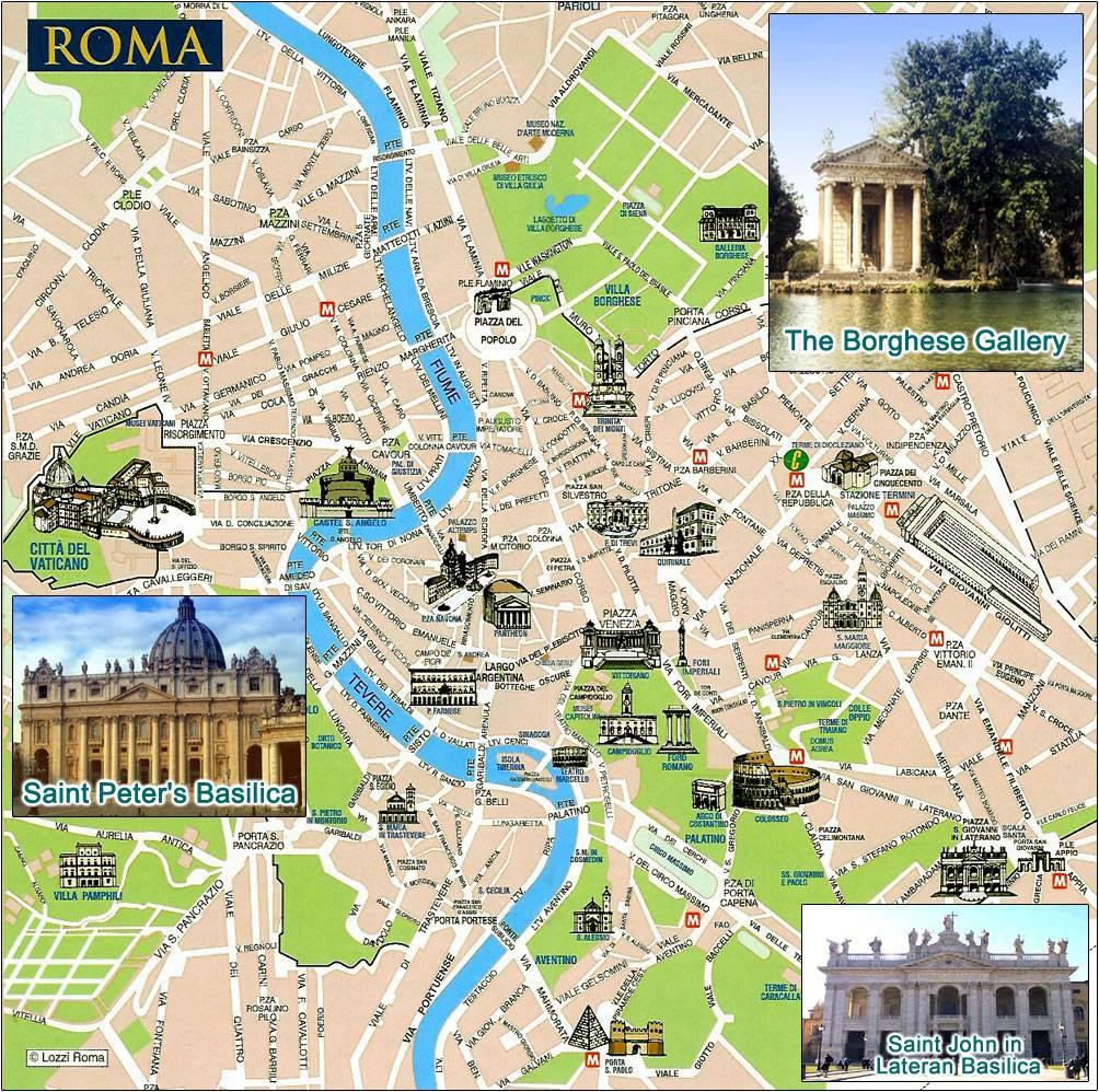 rome bezienswaardigheden kaart Rome Bezienswaardigheden Kaart | Kaart