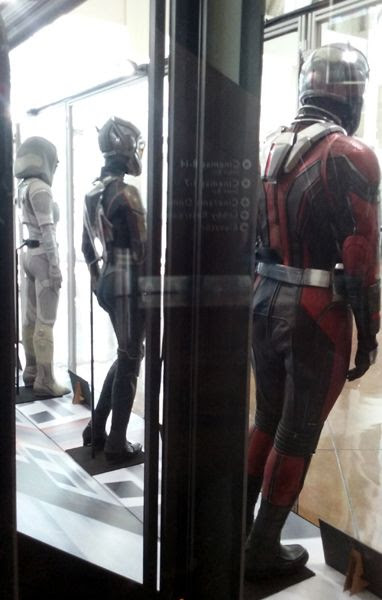 One last snapshot of the Ant-Man, Wasp and Ghost costumes used in ANT-MAN AND THE WASP...on display in Hollywood on July 8, 2018.
