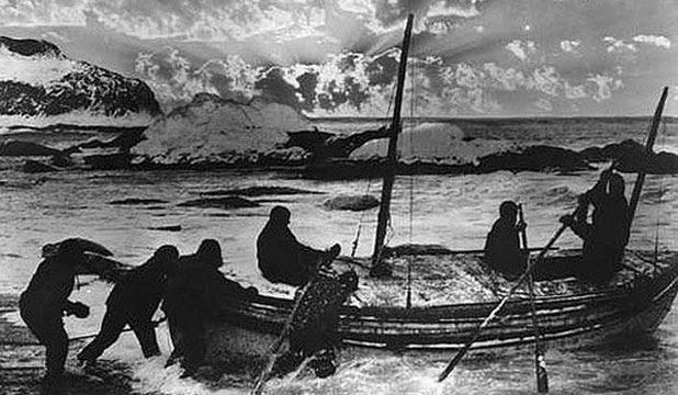 'VERY TIPPY': Ernest Shackleton's lifeboat.