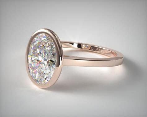 41283 engagement rings, solitaire, 14k white gold bezel