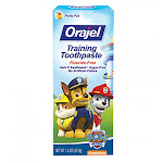Orajel Toddler Training Toothpaste For Cleaner Teeth, Fruity Fun - 1.5 Oz