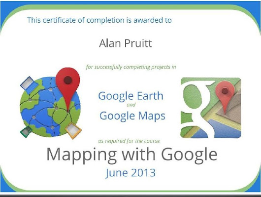 Mapping with Google Course Certificate