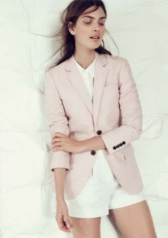 Obsessed with this light pink blazer from Jcrew