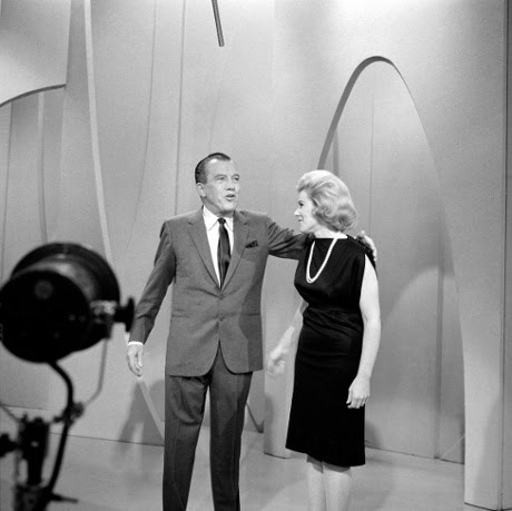 Joan Rivers with Ed Sullivan on THE Ed Sullivan Show.  Image dated May 22, 1966.
