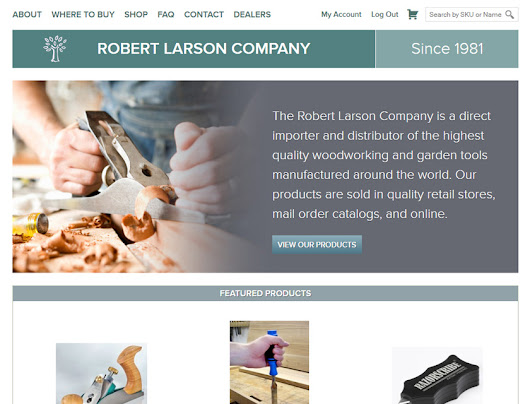 Robert Larson Company // Web Design & E-commerce Case Study - Somethumb Web Design & Development