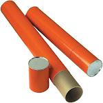 "Alvin T418-25 Orange Fiberboard Tube 4"" I.D. x 25-1/2"""