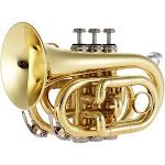ammoon mini pocket trumpet bb flat brass wind instrument