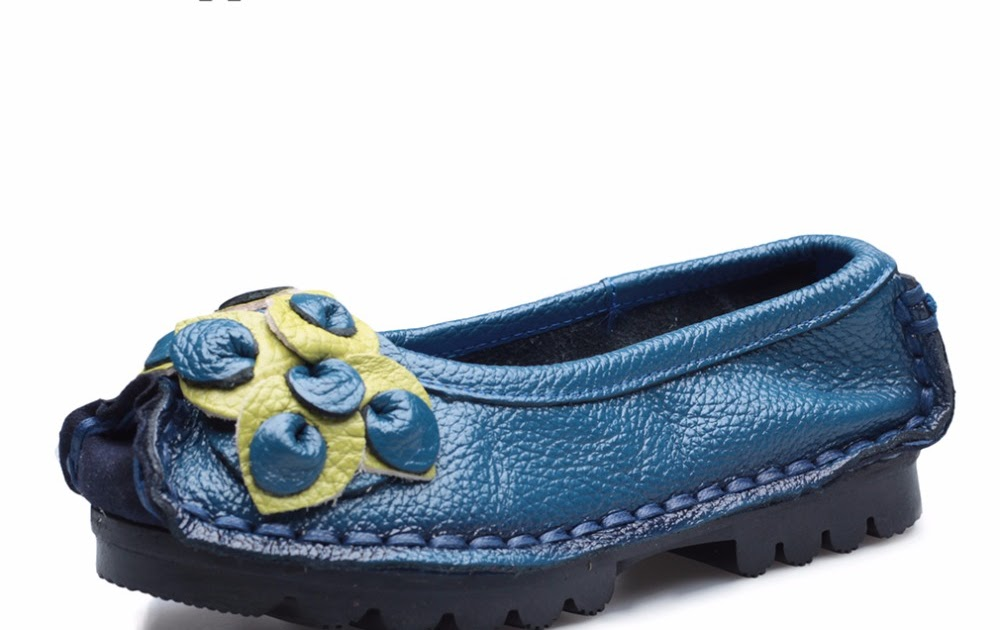 4b2a72eed1b Comprar Originais Feitas À Mão Outono Mulheres Sapatos De Couro Genuíno  Mocassins Reais Pele Senhoras Estilo Popular Baixos Para A Mãe Sapato  Baratas Online ...