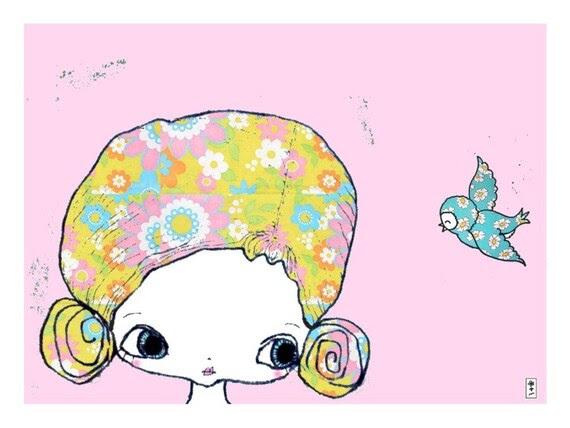 Pretty Hair Art Print 8 x 10
