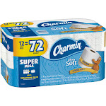 Charmin Ultra Soft Toilet Paper 12 Super Mega Roll