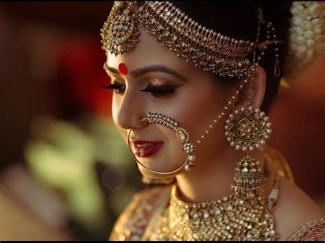 BRIDAL ANTIQUE NATH/ NOSE RING WITH FACE MAKEUP DEMO