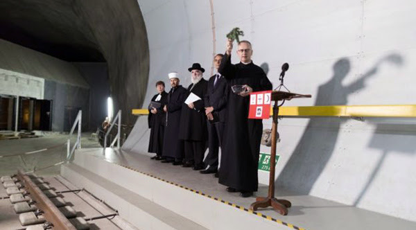 Gotthard túnel abertura bênção