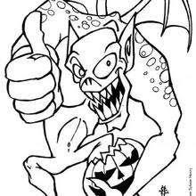 Dibujos Para Colorear El Monstruo De Halloween Eshellokidscom