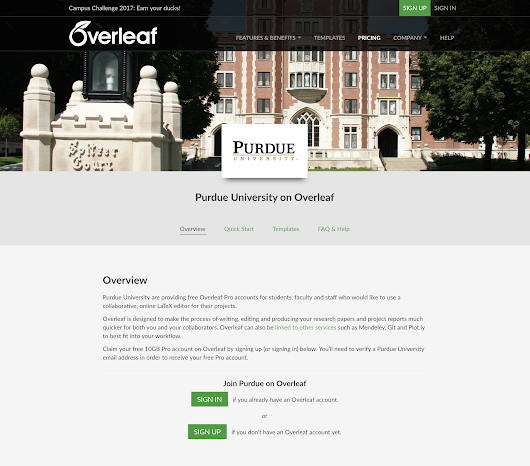 Case Study - Purdue University - Graduate School improves thesis authoring an... - Overleaf Blog