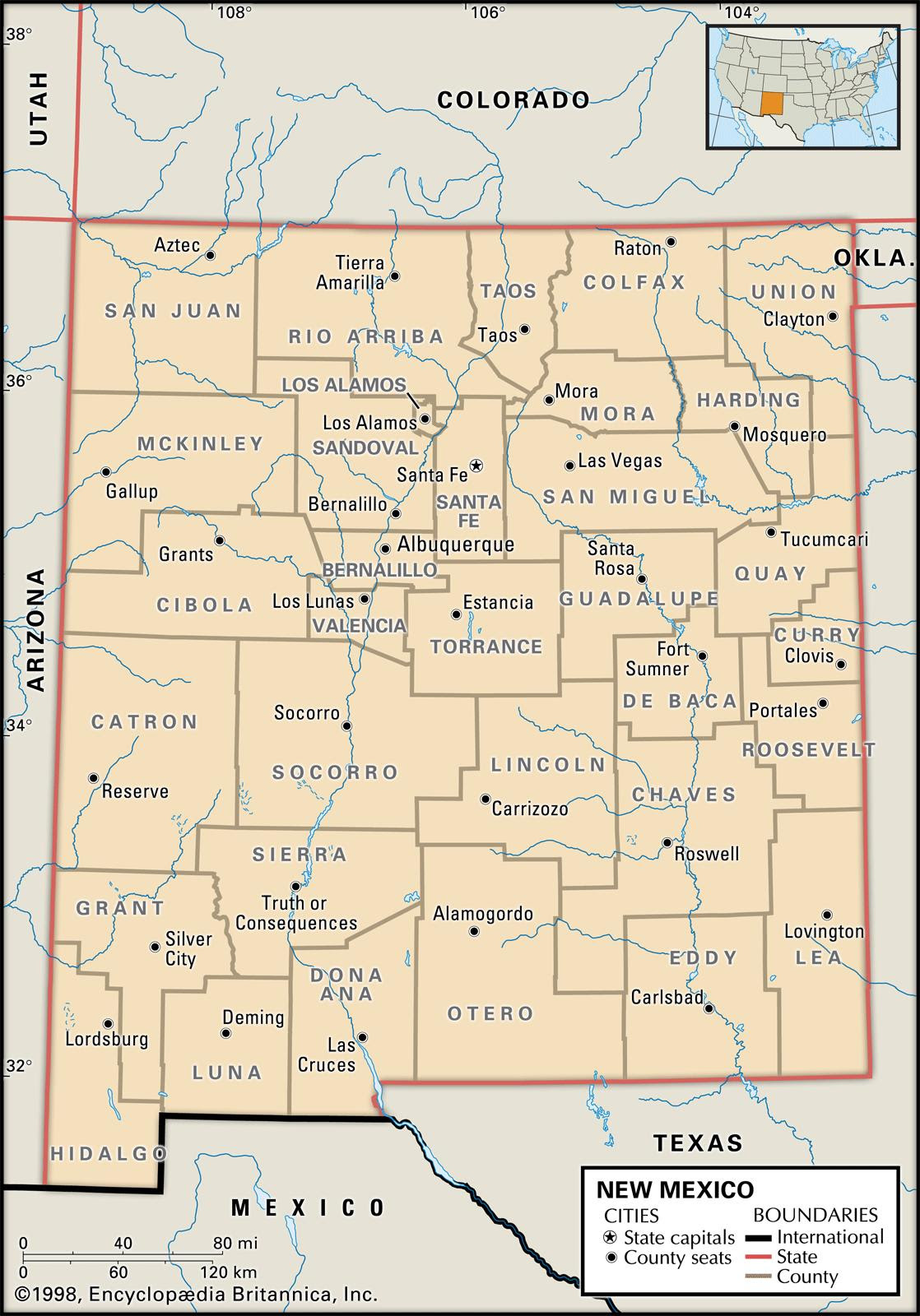State And County Maps Of New Mexico