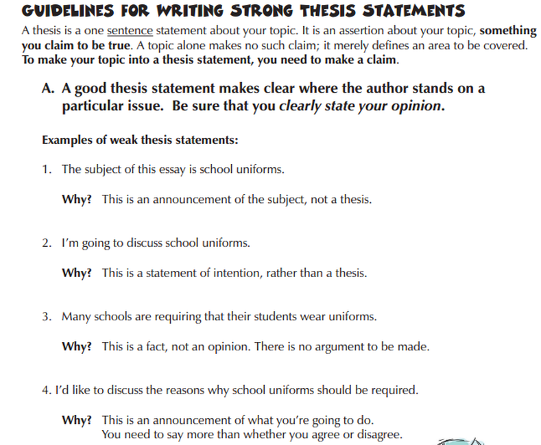 a good thesis statement for a worn path
