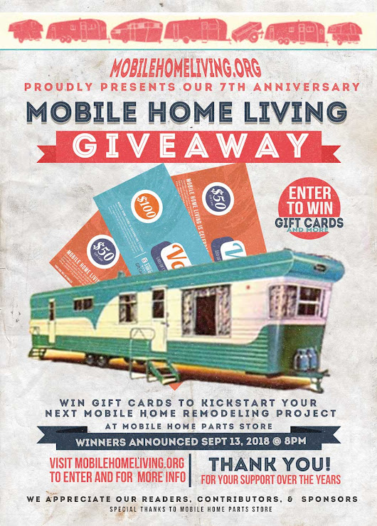 Giveaway and a Year in Review - Mobile Home Living
