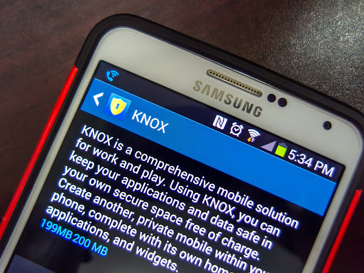 Samsung unwraps Knox 2.0, will use biometric ID and handles apps from Google Play in a new way