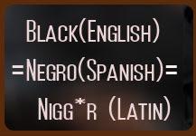Black Negro Nigger (same nonnsense)