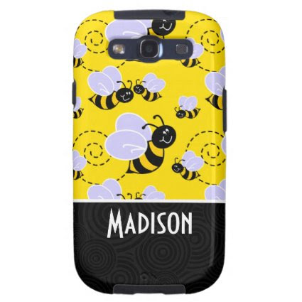 Cute Yellow & Black Bee Samsung Galaxy SIII Cases