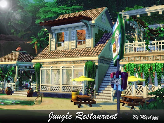 Jungle Restaurant by MychQQQ at TSR » Sims 4 Updates