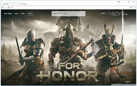 For Honor Wallpapers HD New Tab Themes   Free Addons