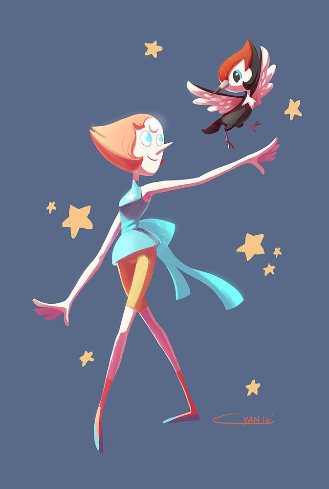 Pikipek is totally Pearl's pokemon