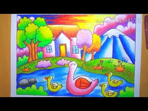 Download Oil Pastels For Kids How To Draw Masjid Easy In Full Hd