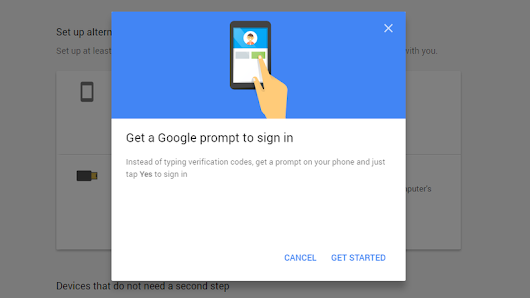 Google Prompt Lets You Use Two-Factor Authentication Without Those Pesky Codes