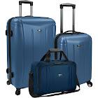 U.S. Traveler Luggage Set Blue