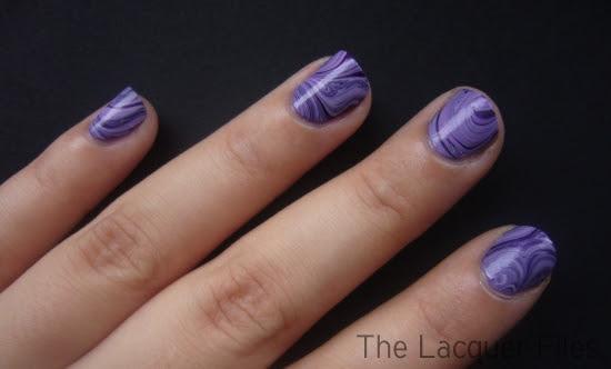 Watermarble Marble Purple Orly Lollipop Zoya Yasmeen Nail Art Nail Design
