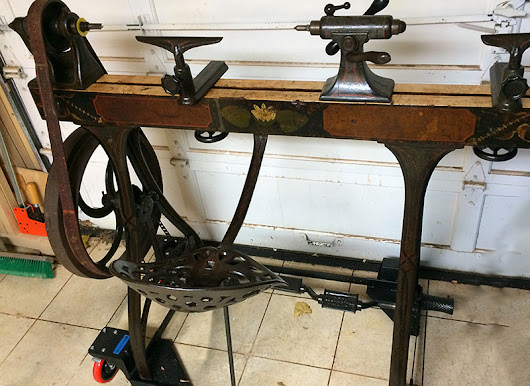 Restoring and Using a Barnes No 3 Treadle Lathe | The Renaissance Woodworker