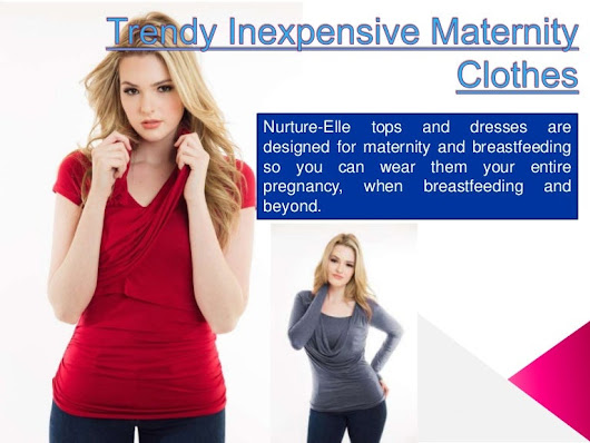 Reasonably priced maternity clothes