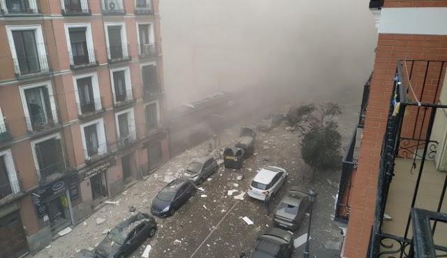 Ισχυρή έκρηξη στη Μαδρίτη - Ισοπεδώθηκε πολυκατοικία (βίντεο)