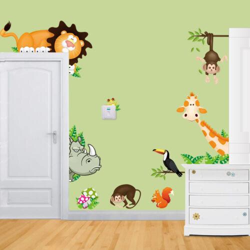 Dekoration Wandtattoo Afrika Tiere Xxl Wandsticker Kinderzimmer Deko Lowe Affe Giraffe Mobel Wohnen Goldenservicesconservacao Com Br