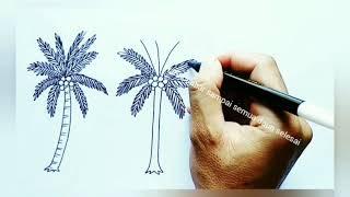 All Clip Of Menggambar Pohon Kelapa Bhclipcom