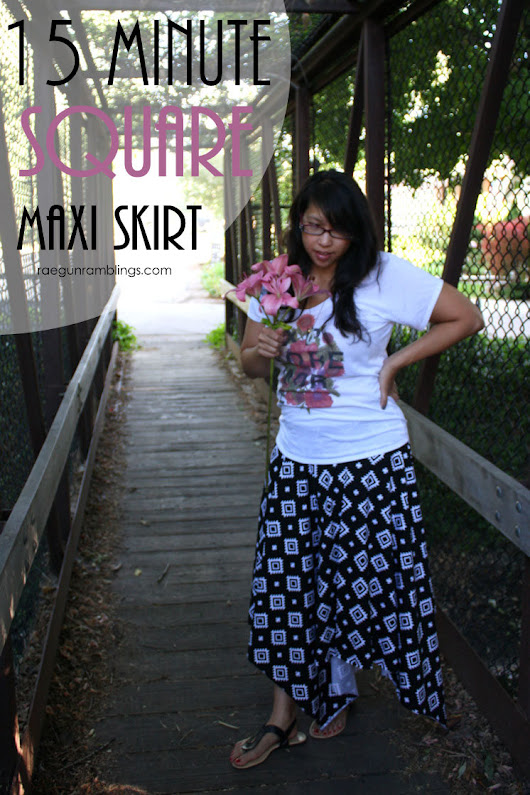 Riley Blake Designs Blog: Project Design Team Wednesday: 15 Minute Square Maxi Skirt