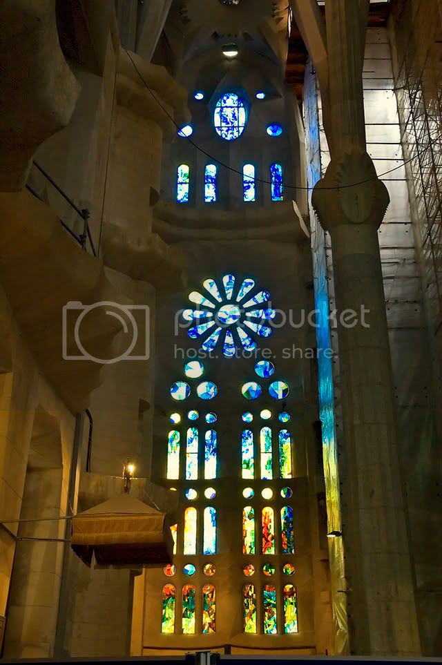 Sagrada Familia Cathedral: Stained Glass Window [enlarge]