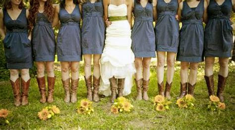 Country Wedding Dresses With Cowboy Boots Images