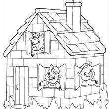 A beautiful brick house coloring pages - Hellokids.com