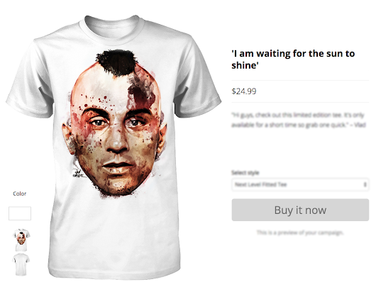 COMING SOON: LIMITED EDITION 'I AM WAITING FOR THE SUN TO SHINE' INSPIRED BY 'TAXI DRIVER'