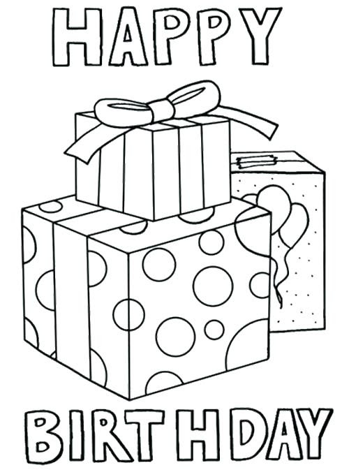 Happy Birthday Card Printable Coloring Pages at ...