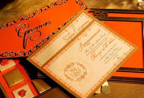 Elegant Orange   Voguish Wedding Invitations