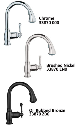 Grohe 33 870 000 Bridgeford Dual Spray Pull Out Kitchen Faucet
