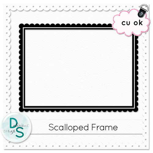 Delicious Scraps: Free CU Scalloped Frame Template